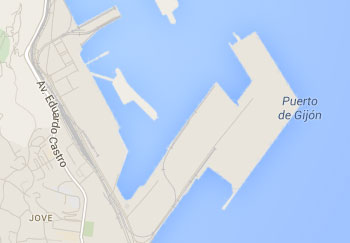 Gijon Port Map