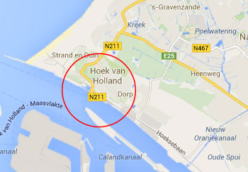 Hook of Holland Port Map