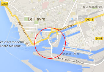 Le Havre Port Map