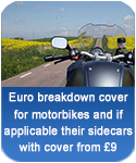 Euro breakdown cover for motorbikes and sidecars