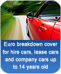 Euro breakdown cover for hire cars, lease cars and company cars